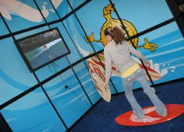 Surf Simulator Set up for Events, Trade Shows, Parties in Florida, Michigan, Ohio, Indiana