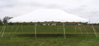 20x30 Canopy Party Tent Rental in Holly Michigan