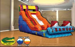 Big Kahuna Tropical Theme Water Slide for Rent in Michigan, Ohio, Indiana, Illnois