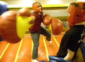 Bouncy Boxing Action with Oversize Boxing Gloves