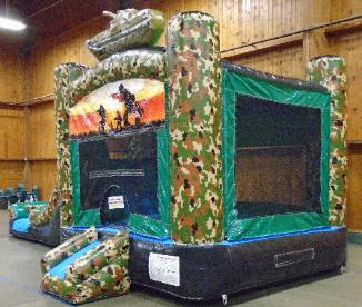 Camo Moonwalk Bouncer Rentals Michigan Ohio Indiana