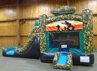 Camouflage Combo Moonwalk Rental in Michigan