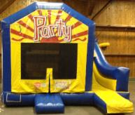 Combo Party Moonwalk with Slide Rentals for Parties and Events