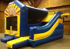 Moonwalk with Slide Attached Combo Unit Inflatable Rental in Michigan, Ohio, Indiana