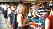 Black Jack Tables and other casino games at Detroit Freedom Festival Fireworks