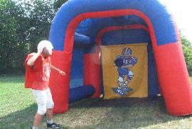 Football Toss Theme Radar Inflatable Football Theme Game