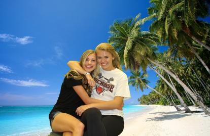 Tropical Theme Green Screen Photo System for Events