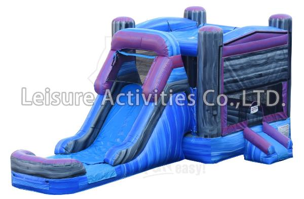 Marble Combo Unit Moonwalk Bouncer Rental with Slide Attached