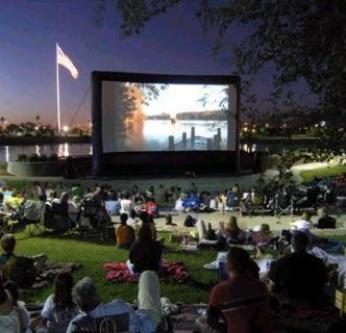 Outdoor Movie Screen Drive In Movie System Rental MI, OH, IN
