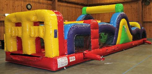 40' Obstacle Course Rental Inflatable in Holly Michigan