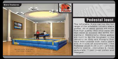 Inflatable Joust Gladiator Joust Game Rentals Michigan, Ohio, Indiana,