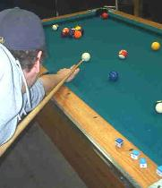 Pool Table Action shot Michigan Rentals
