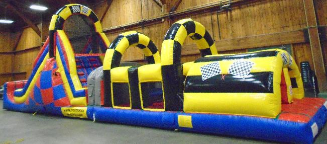Race Theme Obstacle Course Rentals in MI, OH, IN, IL, IA, KY, TN