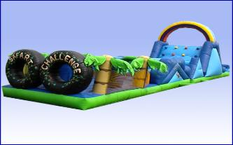Safari Challenge Inflatable Obstacle Course Rental Michigan