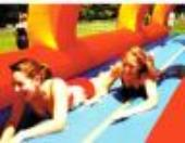 Rent an inflatable Splish splash Slip and Slide for your Tropical Theme Party