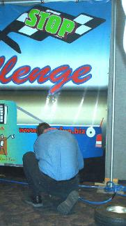 Tire Change Pit Stop Game Rental in Michigan, Ohio, Indiana