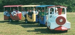 Trackless Train at a Picnic in Michigan